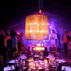 Black Voile Chandeliers